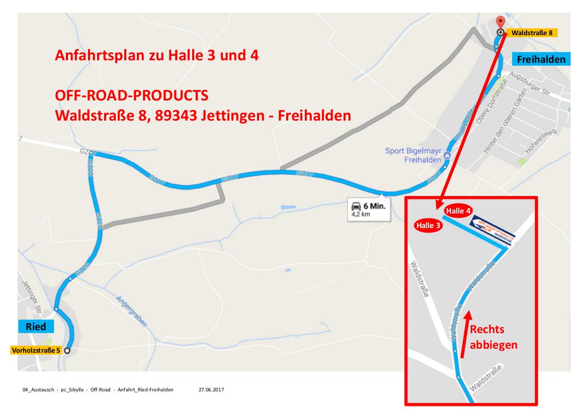 Karte Standort Off-Road-Products