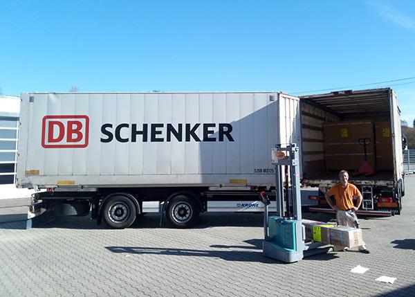 Lieferung von Schenker bei Off-Road-Products