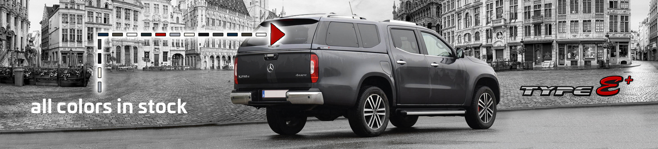 Hardtop Type E+ Mercedes X-Klasse