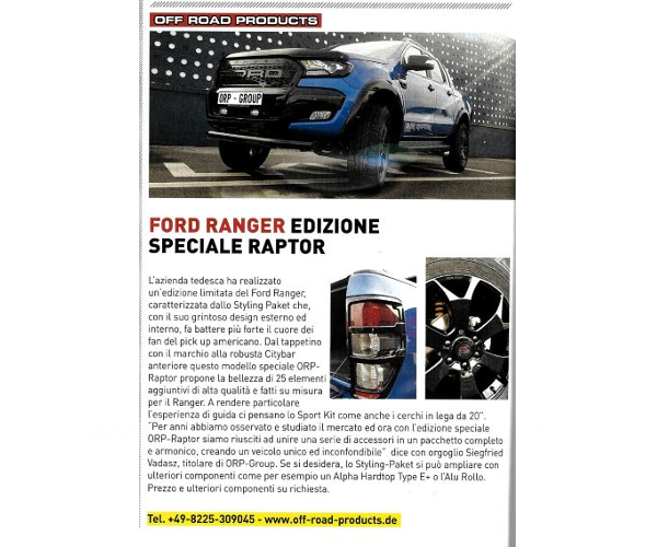 Press Clipping Ford Ranger SGE20